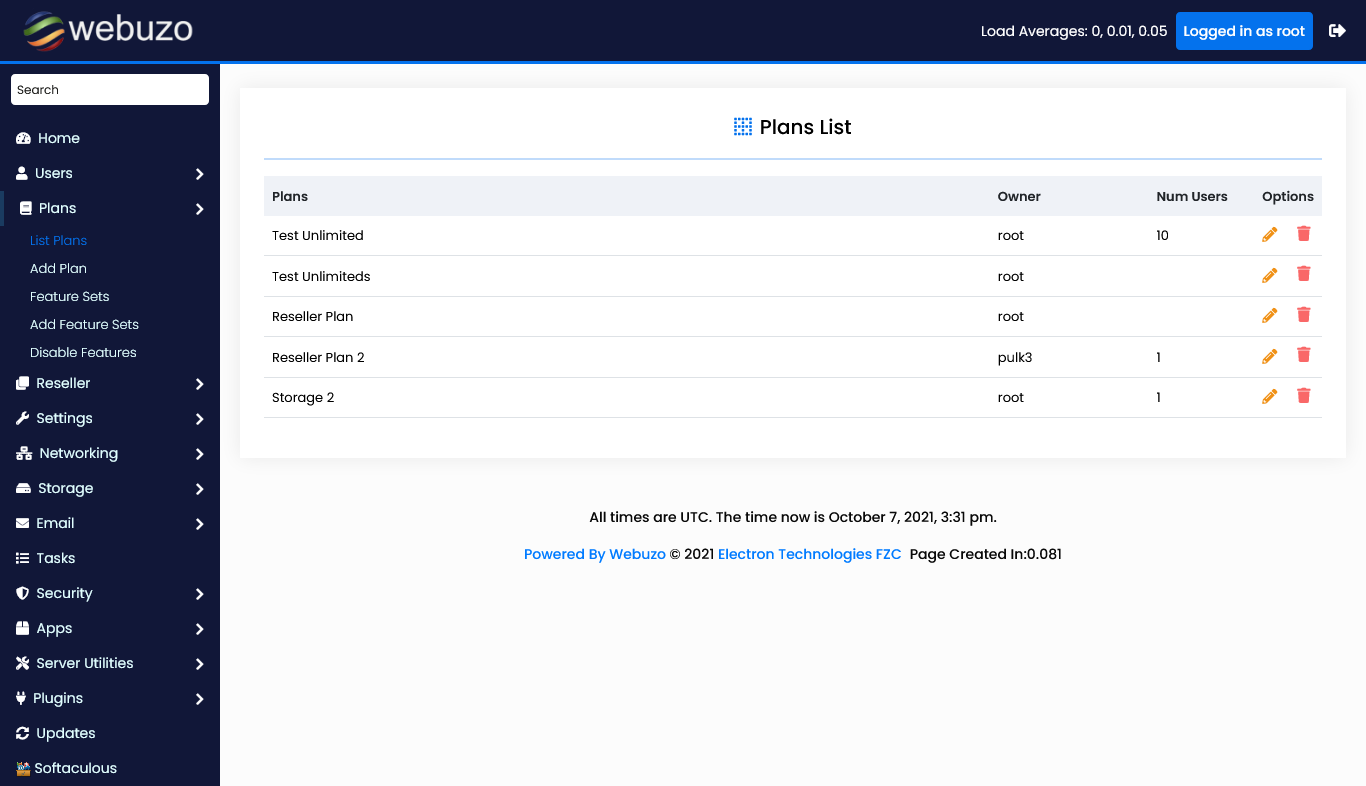 Webhosting-Plans-Management